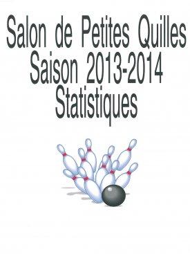 Statistiques Salon de quilles 2013-2014
