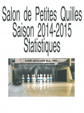Statistiques Quilles saison 2014-2015