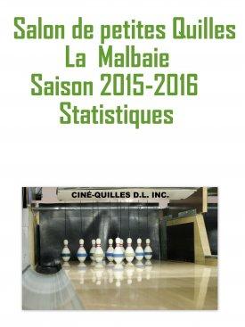 Statistiques Quilles saison 2015-2016